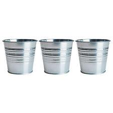 3 x IKEA SOCKER ARGENTO impianto siderurgico POTS (per diametro 12cm flowerpots)