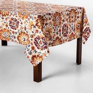 "Threshold- Oblong Jacobean Tablecloth, 60"" X 104"""
