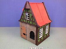 (O3440.4) playmobil maison médiévale verte le tailleur ref 3440 3666