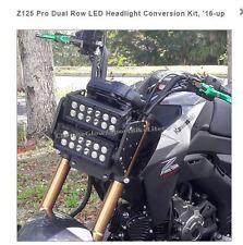KAWASAKI Z125 PRO DUAL ROW LED HEADLIGHT CONVERSION KIT 2016-2017  CHROME GLOW