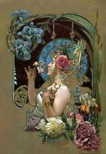 by Lady with Flowers  Louis Théophile Hingre