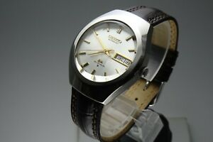 Vintage 1975 JAPAN SEIKO LORD MATIC WEEKDATER 5606-7360 23Jewels Automatic.