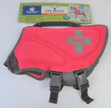 New Top Paw Pink Neoprene Reflective Dog Life Jacket Size M 30-55 lbs