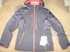 Spyder Women's Facyt Jacket, Depth/Bryte Pink/White, 12.NWT.