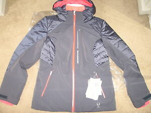 Spyder Women's Facyt Jacket, Depth/Bryte Pink/White, 12.NWT.