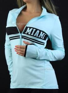 Victoria Secret PINK Miami Ultimate Deep Half Zip Mockneck Sweatshirt NWT