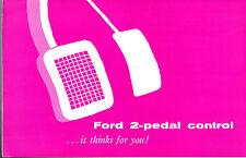 Ford Anglia & Prefect 100E 2 Pedal Control 1957-58 UK Market Foldout Brochure