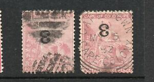 CAPE of GOOD HOPE 1880 3 on 3d TWO EXAMPLES cat. £45 each