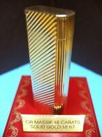 18K/750 GOLD CARTIER LIGHTER OVERHAULED GUARANTEED - BRIQUET ACCENDINO FEUERZEUG