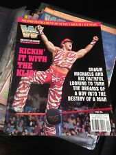 WWF WWE Magazine APRIL 1996 SHAWN MICHAELS Cover + Sunny / Ahmed Poster