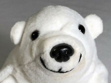 "Vintage 1997 Coca-Cola Collectable Polar Bear with Coke Bottle 6"" Stuffed Plush"