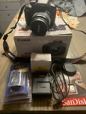 Canon EOS Rebel T6 DSLR Camera Complete 18MP Bundle With Extras Mint Works Great