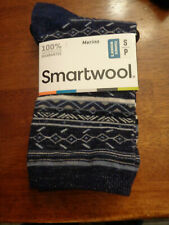 Smartwool Women Ethno Graphic Crew Blue Pattern Size Small New