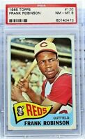 1965 Topps #120 Frank Robinson - HOF - Reds - PSA 8 - NM-MT - 60140473 - (SCA)