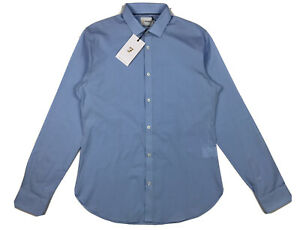 RRP £60 Farah dark Navy SLIM FITTextured Check L//S Polo Shirt BNWT free p+p