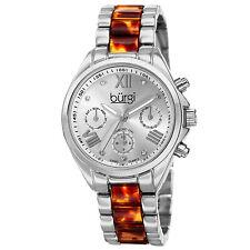 New Women's Burgi BUR130SS Swiss Diamond Multifunction Tortoise Bracelet Watch