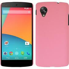 Hardcase for Google Nexus 5 rubberized pink Cover + protective foils