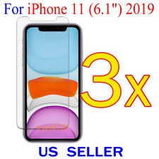 """3x Clear Screen Protector Guard Cover Film For Apple iPhone 11 ( 6.1"""" )  2019"""