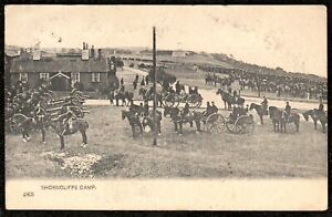 1904 SHORNCLIFFE MILITARY CAMP POSTCARD KENT CANONS HOUSE SOLDIERS HORSES ARMY