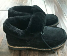NEW WITHOUT BOX Authentic Black Suede BIRKENSTOCK Shearling BAKKI Shoes Size 40