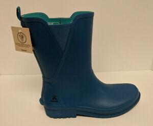 Kamik Chloe Waterproof Rain Boots, Blue, Women's 11 M