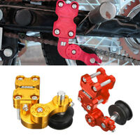Portable Aluminum Chain Tensioner Bolt Adjuster Motorcycle ATV Chopper on Roller