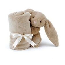 Jellycat Bashful Beige Bunny Baby Soother Comforter Blanket One Size - H 33cm