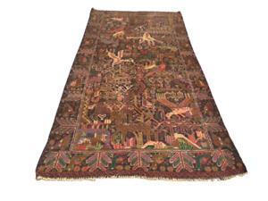 Afghan Area Rug Vintage Wool Handmade Tribal Flat Weave Oriental Carpet 3x6