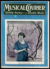 1927 Estelle Gray-Lhevinne photo with violin Musical Courier framing cover
