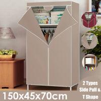 1.5M Portable Clothes Closet Wardrobe Storage Organizer Non-woven Fabric Bedroom