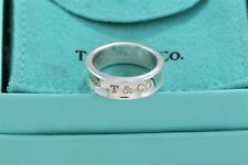Tiffany & Co. 1837 Sterling Silver Wide Ring Band Size 5 w/ Pouch
