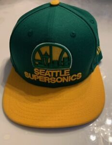 New Era 9FIFTY NBA Seattle Supersonics Snapback Hat/Cap Vintage