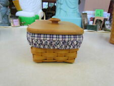 2001 Longaberger Address Basket Combo with Wooden Lid
