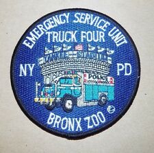 """NYPD Emergency Service Unit Truck 4 - """"Bronx Zoo"""" - Shoulder Patch - MINT !"""