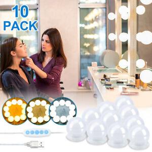 LED Spiegelleuchte für Make Up Schminktisch 10 LED Dimmbar USB DIY Lampe