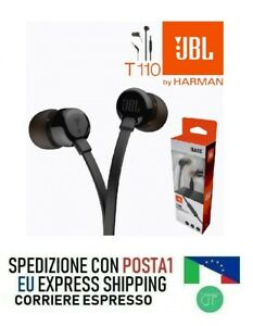 JBL T110 Intra-Auricolare Mit Steuerung Mikrofon Universelle Jack 3,5 MM