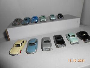 lot de 12 voitures 1/87ieme ho jouef en parfait etat
