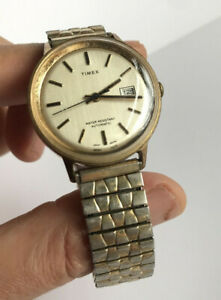 Vintage TIMEX Marlin Mens Automatic Date Watch 1975 - Made in Great Britain, NR!