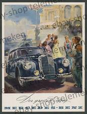 orig. Reklame Hans Liska Damen Mercedes-Benz 300 Sedan Adenauer Auto Luxus 1952