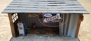 """Sign for Garage Diorama """"Ford Service Entrance"""" - 1/43 scale"""