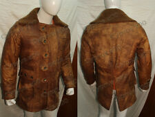 NEW BANE 100% REAL COW-HIDE LEATHER TRENCH COAT JACKET - WITH BROWN FURR