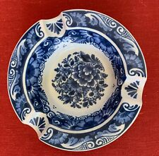 Blue and White Delft Ashtray, 850, Holland, Vintage, Hand Painted, Never Used