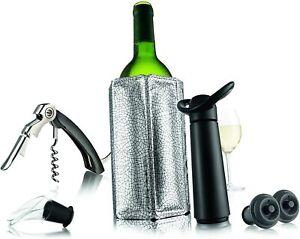 Vacu Vin Wine Essentials Gift Set Black 6 Piece