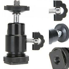 Mini Tripod Ball Head Flash Holder Bracket For Flashgun and Hot Shoe Mount UK