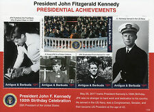 Antigua & Barbuda 2017 MNH JFK John F Kennedy 100th 5v M/S US Presidents Stamps