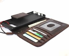 genuine leather case for samsung galaxy note 5 book wallet closure cover holder