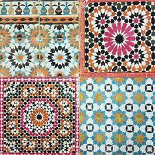 Botanical Moroccan Multicoloured Tile Wallpaper Spiro Multi Retro Tiles BA2504