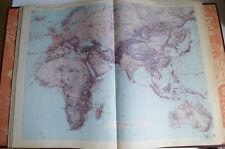 1950 Atlas International Larousse Politique Economique Chardonnet Siegfied