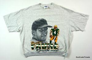 VTG NFL Brett Favre CSA T-Shirt Cuffed Waist Action & Close Up Shirt Sz Adult XL