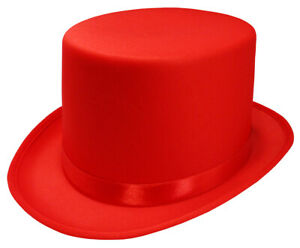 Adult Satin Top Hat Magician Gentleman Roaring 20s Tuxedo Formal Costume Top Hat